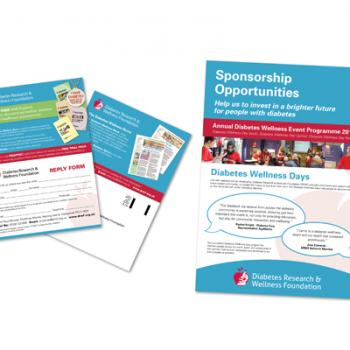 Double sided leaflet and page sponsorship opportunity brochure