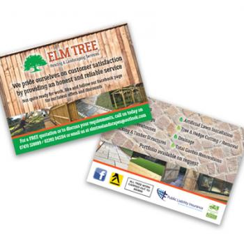 A6 glossy leaflet and advert design
