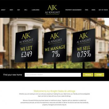 Sales and lettings website
